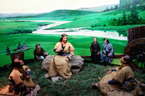 辽代契丹民族草原生活蜡像