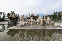 楼观台八仙过海雕塑