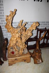 南瓜根雕架