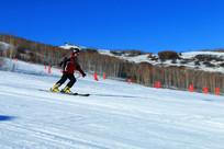 运动员滑雪场景