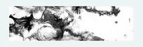 抽象 水墨画 黑白装饰画 流彩画