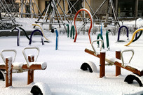 冬季的健身广场