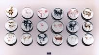 动物天书岩画瓷盘
