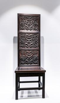 虎纹方形木椅