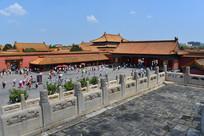 蓝天下的北京故宫风景