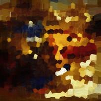 色块抽象油画壁画背景墙现代装饰画