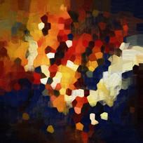 色块无框画 酒店装饰画 抽象画