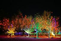 五彩斑斓的树灯