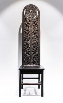 圆镜藤纹木椅