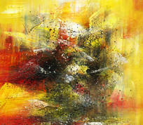 走廊过道抽象油画装饰画
