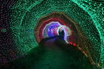 彩虹灯隧道图片