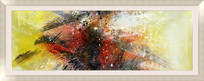 抽象油画装饰画现代简约风格壁画背景墙