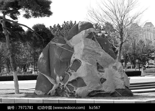 公园景观石头素材图片