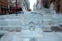 兔头像冰雕雕塑