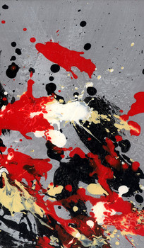 玄关装饰画 现代简约抽象油画 酒店抽象油画