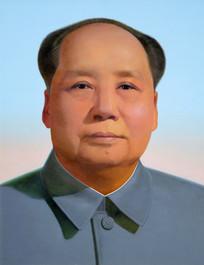 油画毛主席像