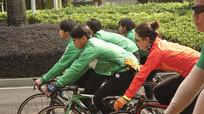 骑单车的人群