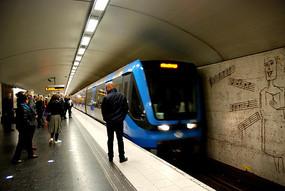 斯德哥尔摩地铁到站