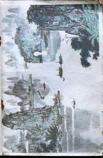小学语文课本桂林山水插图