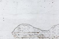 白色石灰砖墙