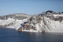 朝鲜境内长白山天池白头峰