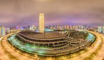 俯拍郑州东区CBD