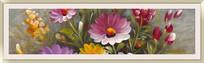 极简风格花卉油画