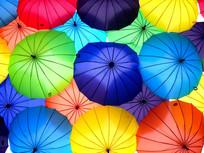 彩色阳伞背景