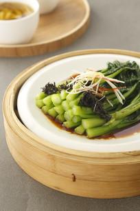 榄菜蒸菜心