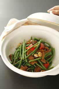 砂锅虾酱长豆角