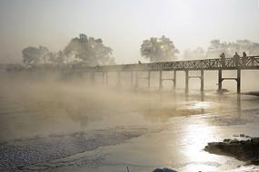 雾凇岛小桥