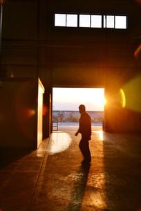 阳光照射车间工人