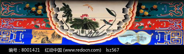 传统彩绘荷花图片