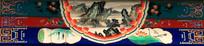 传统彩绘山景图片