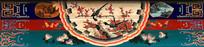 传统彩绘喜鹊迎梅