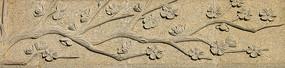 石雕梅花图片