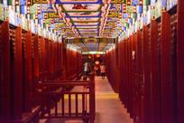文化长廊的灯光