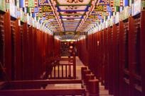 文化长廊的夜景