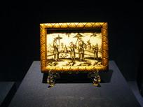 1725年黑珐琅中国风玻璃版画