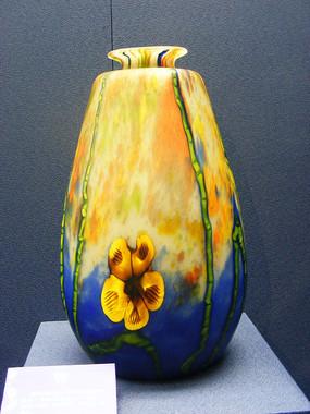1923年捷克斯洛伐克热成型玻璃花瓶