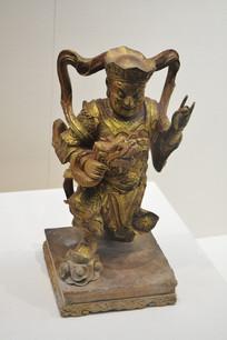 降龙罗汉金漆木雕