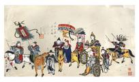清代杨柳青古装年画
