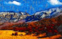 山坡风景装饰画