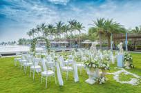 草坪婚礼布置现场