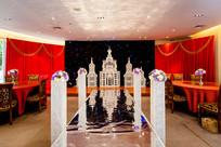 城堡花柱婚礼布置