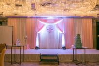 粉红浪漫婚礼舞台背景