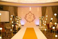 粉黄婚礼舞台