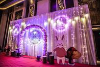 拱门兔子婚礼布置