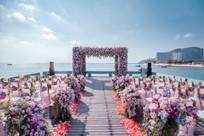 海边户外花卉婚礼