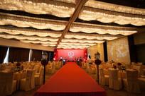 红色舞台宴席